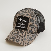 BLAME IT ON THE COCKTAILS TRUCKER HAT
