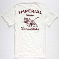 Imperial Motion Chase Mens T-Shirt White  In Sizes