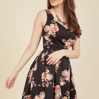 Sassed As You Can Floral Dress in Antique Blooms | Mod Retro Vintage Dresses | ModCloth.com