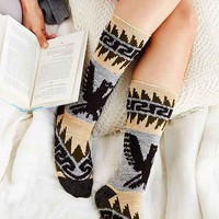 Eagle Patterned Thick Boot Sock