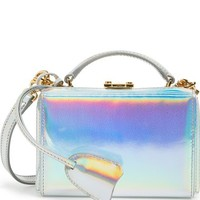 Mark Cross 'Mini Grace' Holographic Leather Box Clutch   Nordstrom
