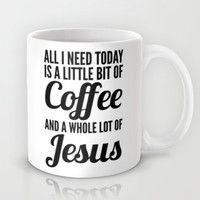 COFFEE AND JESUS Mug by CreativeAngel | Society6
