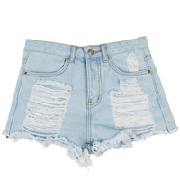 Denim shorts - Messed Up - Shorts - Pants & Shorts - Women - Modekungen