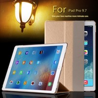 For Apple iPad PRO 9.7 inch Luxury Magnetic Ultrathin Slim Smart PU Leather Cover Plastic Clear back case For iPad Pro
