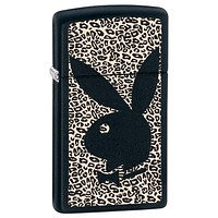 Zippo Slim Playboy Black Matte Lighter