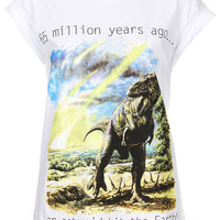 Asteroid Dinosaur Tee By Tee And Cake X The Natural History Museum - Jersey Tops - Clothing - Topshop USA