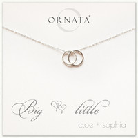 """Big Little"" Sterling Silver Necklace 