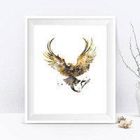 Thunderbird Art Print instant download Fantastic Beasts Where to Find Them Newt Scamander Bowtruckle Niffler Harry Potter Gifts Movie Poster