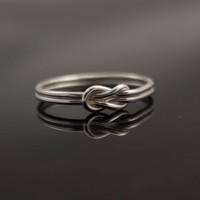 Infinity ring. Sterling Silver knot ring  Nautical ring Promise ring Purity ring sailor knot