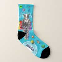 Animal Cow Astronaut in Space Socks