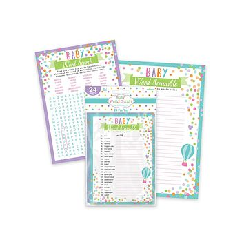 Baby Word Games - 24 sheets