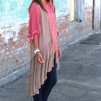 Got My Back Sleeveless Cardigan {Mocha}