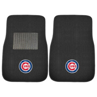Chicago Cubs MLB 2-pc Embroidered Car Mat Set