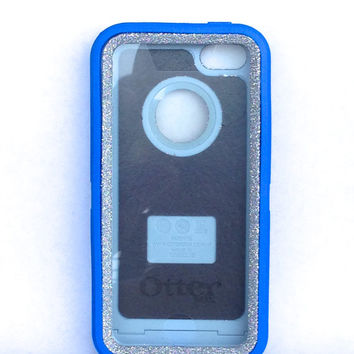 OtterBox Defender Series Case iPhone 5c Glitter Cute Sparkly Bling Defender Series Custom Case blue / silver
