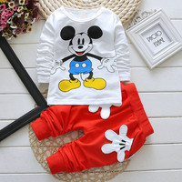 baby clothes special kids clothes long sleeve unisex girls favorite Mickey baby clothes soft casual boy clothes four colors,high quality