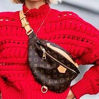 LV Louis Vuitton Popular Women Men Personality Leather Waist Bag Chest Bag Shoulder Bag Crossbody Satchel