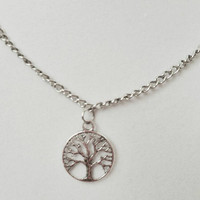Mens tree of life Necklace, charm necklace, Valentine's Gift, Men's necklace, handmade charm, tree of life charm, 18 inch chain, manly gift