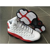 Air Jordan Retro 13 Chicago White Red Men Women Basketball Shoes 13s Chicago Sneakers With Shoes Box