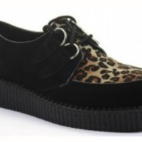 WOMENS LADIES CREEPERS PLATFORM WEDGE LACE UP GOTH PUNK SHOES BOOTS BROTHEL SIZE