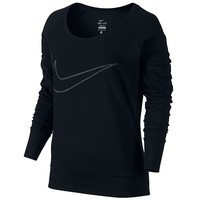 Nike Dri-FIT Therma All Time Epic Fitness 5 Scoopneck Workout Tee - Women's, Size: