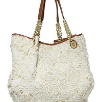 BetseyJohnson.com - NEVER PROMISED U A ROSE TOTE CREAM