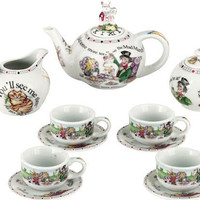 Alice in Wonderland Miniature Tea Set