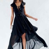 The Jetset Diaries Dio Lace-Up Maxi Dress