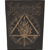 Behemoth Men's The Satanist Back Patch Black