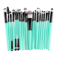 20 pcs Makeup brushes Pro hair eyebrow foundation brush pen cleaner Cosmetic maquiagem make up brush Blusher cosmetics