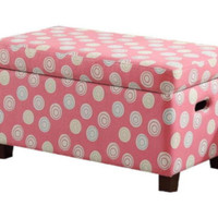 Stylish Storage Bench With Compartment Bedroom Furniture Pink And White Finish
