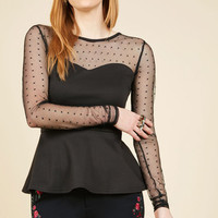 Lost in a Melody Long Sleeve Top | Mod Retro Vintage Short Sleeve Shirts | ModCloth.com