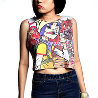 Gorillaz Tops Crop Shirt, Tank tops Cropped t-shirt women
