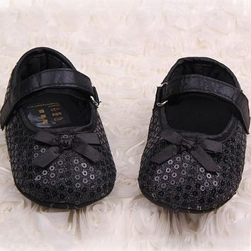 Cute Non Slip Soft Shoes Baby Toddler Princess Shoes First Walkers