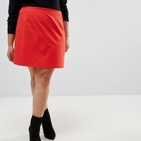 ASOS CURVE Tailored A-Line Mini Skirt at asos.com