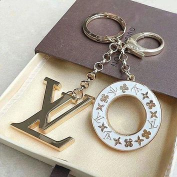 LV Louis Vuitton trend personality fashion men and women models beautiful keychain