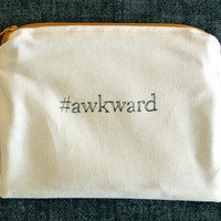 INdiscreet Zip Pouch for Tampons, Menstrual Pads, Feminine Products - #awkward