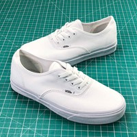 Vans Authentic Sketch Side Wall All White Sneakers