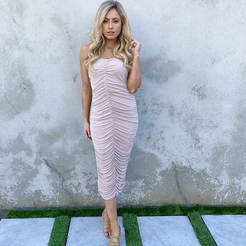 Sway With Me Pink Midi Dress