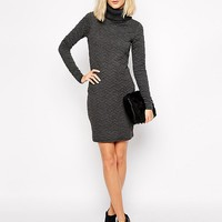 River Island Roll Neck Cable Sweater Dress