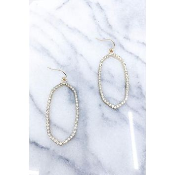 Olivia Pave Drop Earrings