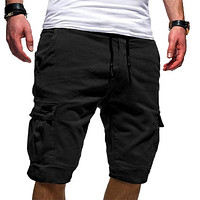Men's Shorts Cotton Elastic Waist Casual Sport Shorts