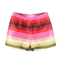 Multicolor Stripped Shorts