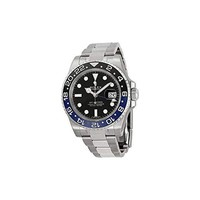 DCCK Rolex GMT Master II Black Dial Stainless Steel Mens Watch 116710 BLNR