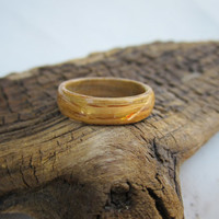 Wooden Ring Bent Wood Ring