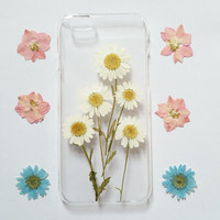iPhone 6 Case, iPhone 6 Plus Case Clear, Pressed Flower iPhone 6 Case, Clear iPhone 6 plus Case, iPhone 6 Plus Case,daisy iphone 6 case