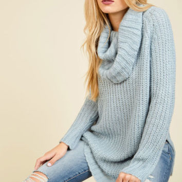 Homecoming 'Round the Mountain Sweater in Frost | Mod Retro Vintage Sweaters | ModCloth.com