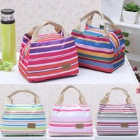 Portable Insulated Thermal Cooler Lunch Box Carry Tote Storage Bag Travel Picnic Bags