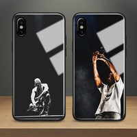 KANYE WEST rapper hiphop Tempered Glass Phone Case Soft Silicone Shell Cover For Apple iPhone 6 6s 7 8 Plus X XR XS MAX