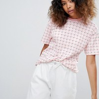 Vans Exclusive Pink All Over Checkerboard T-Shirt at asos.com