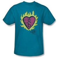 One Tree Hill - Mens C Over B 2 T-Shirt In Turquoise, Size: X-Large, Color: Turquoise